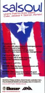 Salsoul Puerto Rico flier