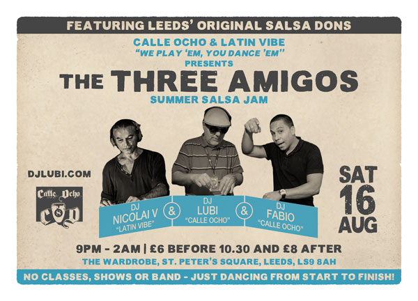 The Three Amigos...Leeds salsa legends reunited!