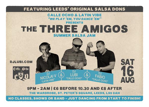 The Three Amigos...Leeds salsa legends reunited!