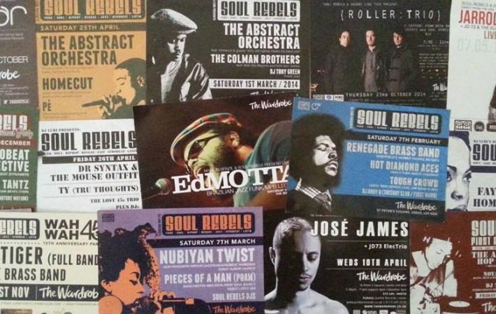 Soul Rebels flyers 3 years